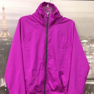 EUC, UA wind breaker in violet XL $20